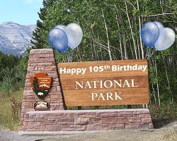 National Park Sign, 105th Birthday