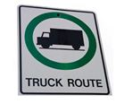 truck route sign